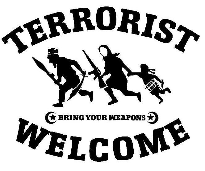 Dan Park - Terrorists Welcome