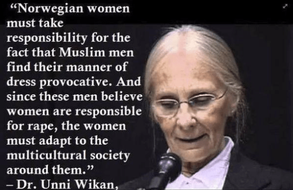 islam-helped-by-gowp-leftist-woman-unni-wikan-defending-rapists-muslims
