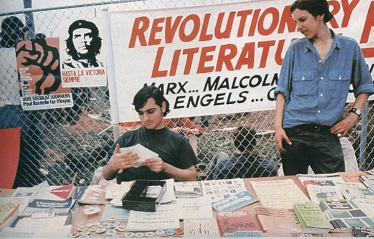 commie books at Woodstock