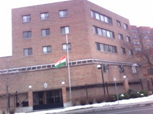India flag at half mast in Ottawa after the Mumbai attacks
