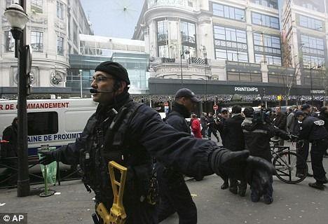 Police evacuate Department store.