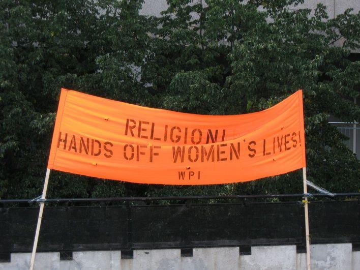 Women demanding a free Iran