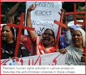 Protesting Christian persicution in Pakistan