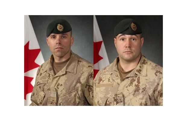 Maj. Yannick Pepin (left) and Cpl. Jean-Francois Drouin of the 5th Canadian Combat Engineers were killed in an IED strike south of Kandahar City on Sept. 6, 2009.