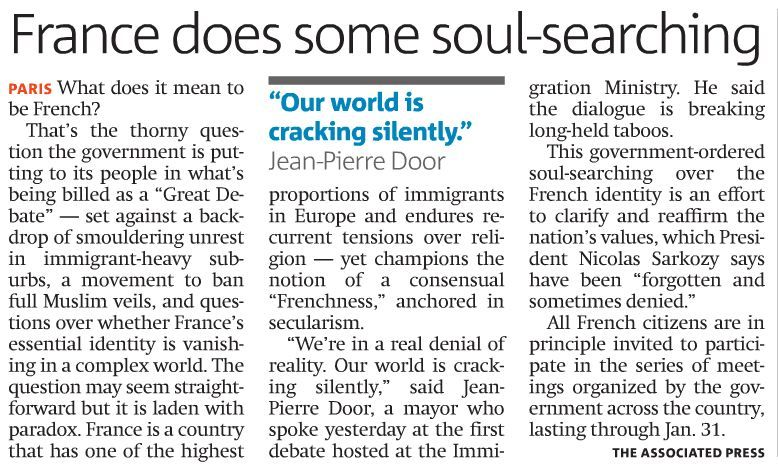 France does soul searching