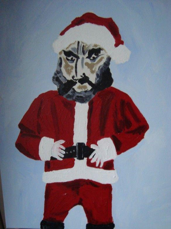 Angry Santa painting robert-jacobsen-172-585x780