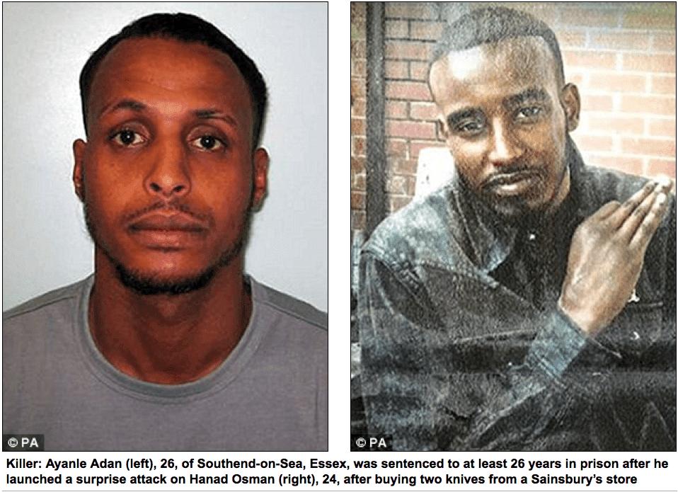Somalitard decapitates man in London Cafe