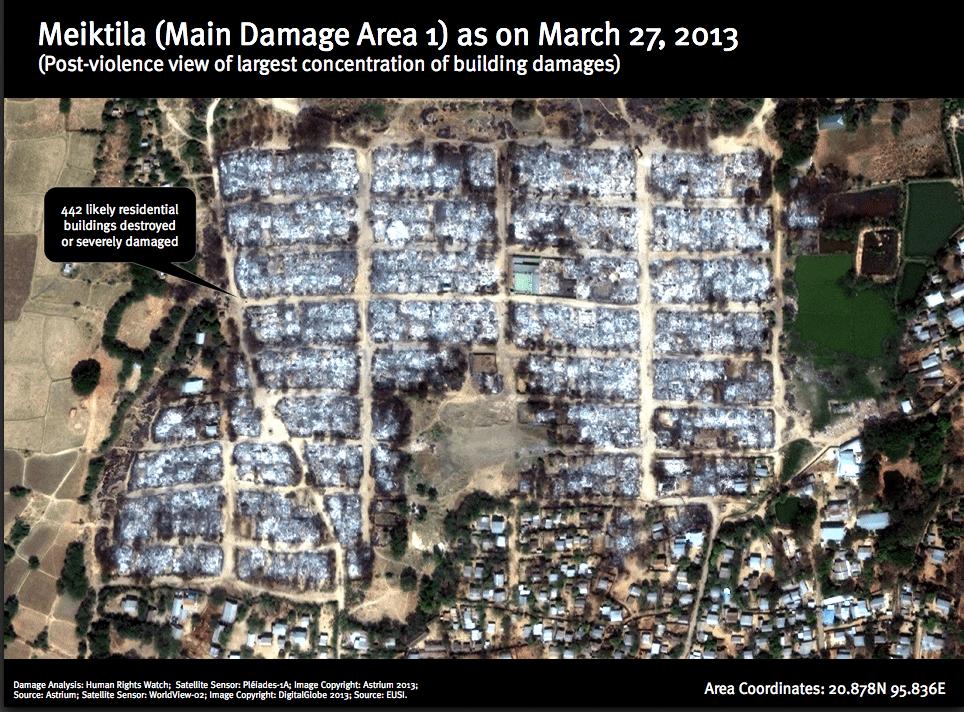 Post riots Burma damage