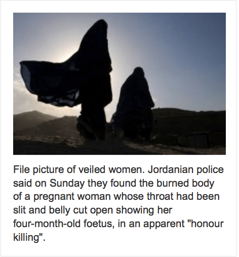 Jordan honour killing file photo