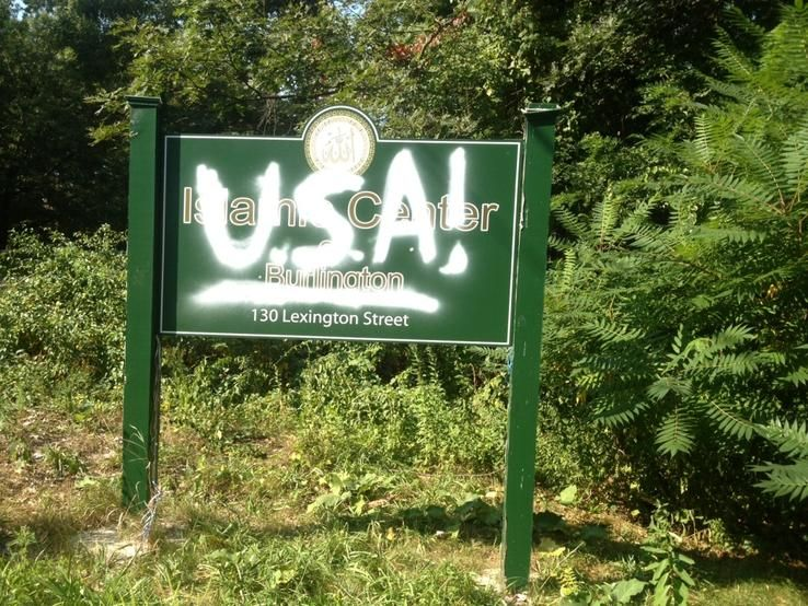 USA on mosque sign
