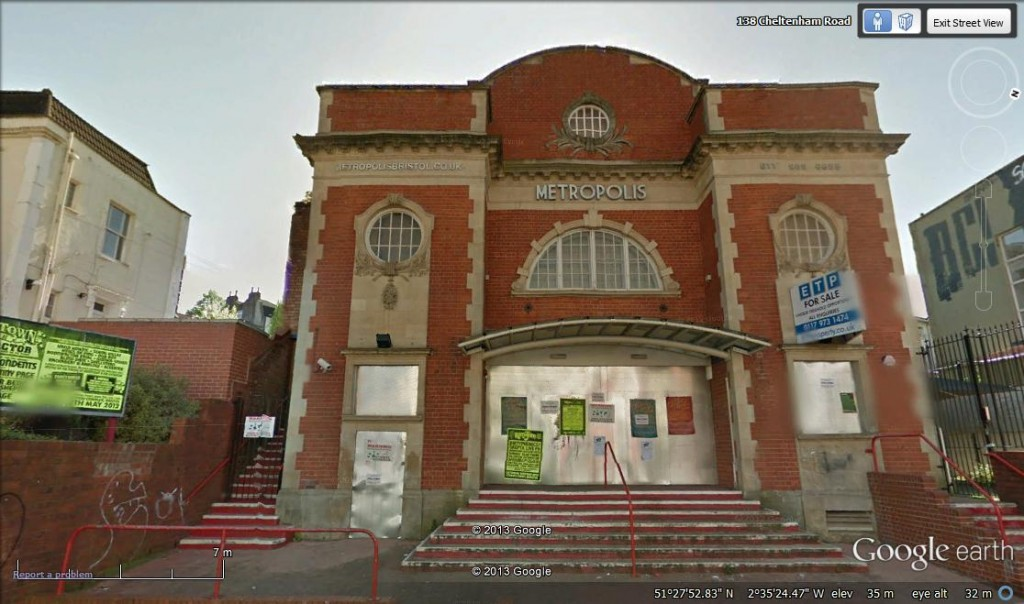 Google Earth image Bristol