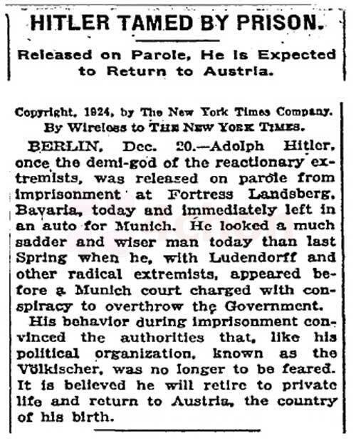 1924 NYT on Hitler