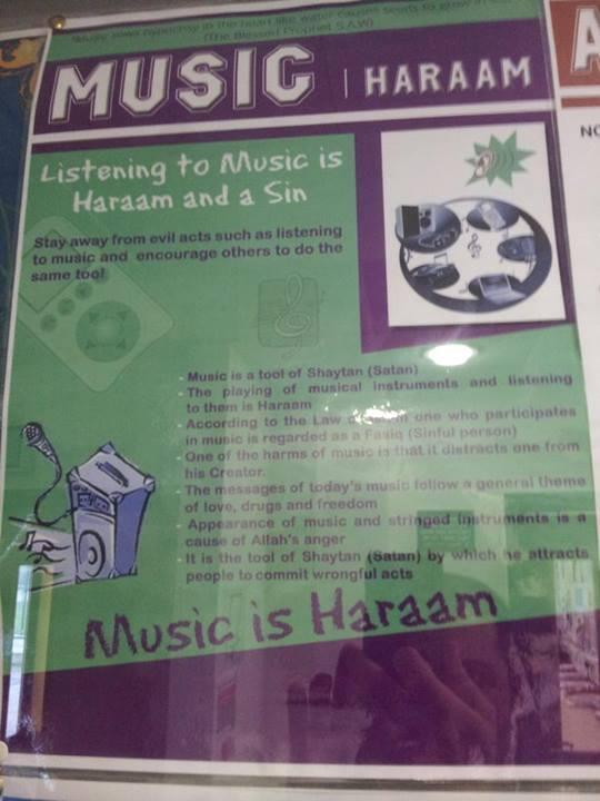 Music is haraam UK school