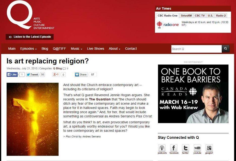 CBC's snapshot Piss Christ 2010
