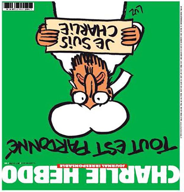 Post killing Charlie hebdo Cover 180 degrees.1