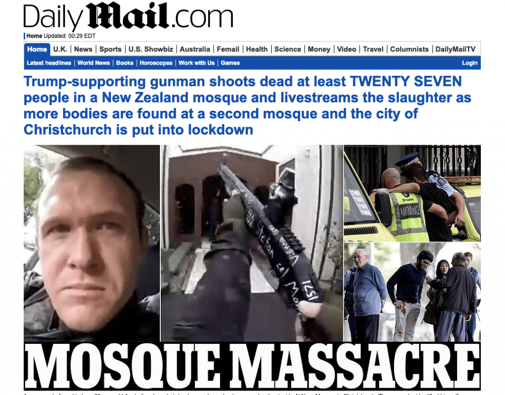 Brenton Tarrant Twitter Image: Major Assault On (2) New Zealand Mosque(s)
